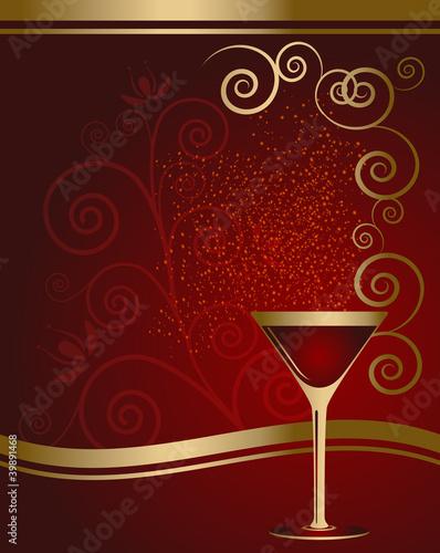 Cocktail - bicchiere con bollicine