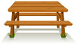 Picnic Wood table - 39894858