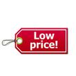 Etiqueta con texto Low price!