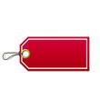 Etiqueta de precio color rojo