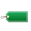 Etiqueta precio color verde