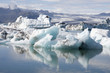 Floating icebergs in Iceland