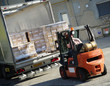 déchargement de camion
