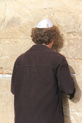 At Western wall. Jerusalem
