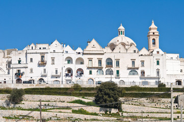 Panoramic view of Locorotondo. Puglia. Italy.
