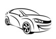 My own car concept in line art