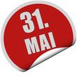 Sticker rot rund curl unten 31. MAI