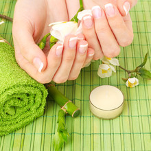 Manicure - hands spa, beauty salon