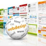 Fototapety Webdesign, 3D, Kugel, Website, Homepage, Design, Template, SEO