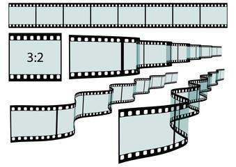 Diastreifen, 3D, Perspektive, Streifen, DIA, Foto, Kleinbild