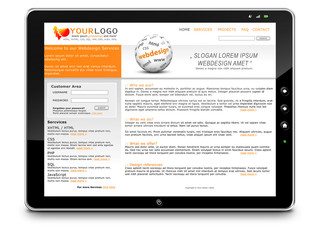 Webdesign, Tablet-PC, Präsentation, Website, Homepage, SEO, LTE