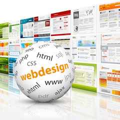Webdesign, 3D, Kugel, Website, Homepage, Design, Template, SEO
