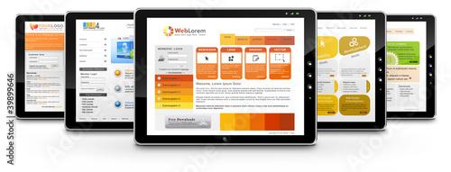 Webdesign, Tablet-PC, Präsentation, Perspektive, Homepage, SEO
