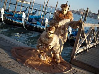 Couple at Venice carnival
