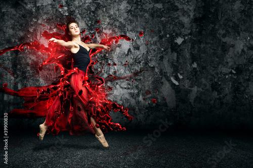 Fototapeten,tanzen,ballet,sprung,frau