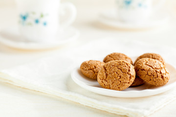 Amaretti, Traditional Italian Cookies Made from Almonds