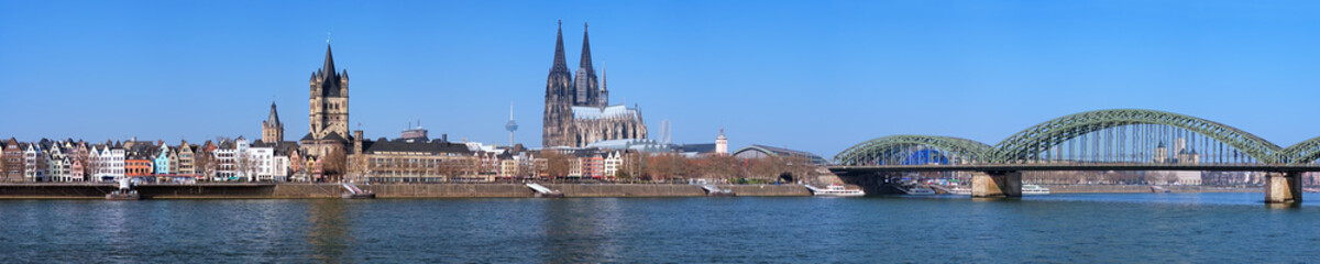 Large panorama of Cologne, Germany