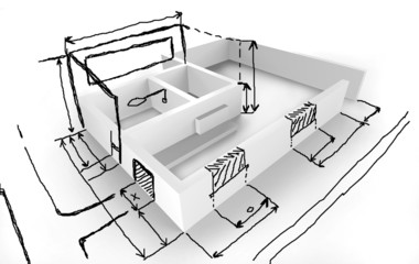 Hauskonzept - Idee - Entwurfzeichnung
