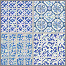 Seamless Vintage Background Collection - Victorian Tile in vecto