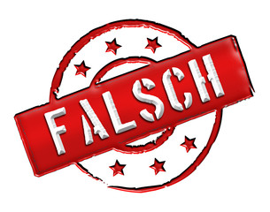 Falsch - Stamp