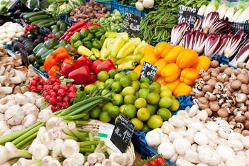 Marktstand Gemüse