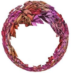 Ring Shaped Autumn Leaves Circlet