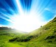 vivid countryside sunlight