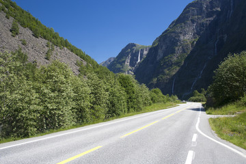 Road at Gudvangen, Norway