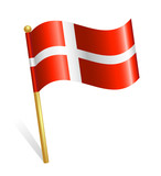 Danmark Country flag poster