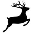 Springender Hirsch Rentier Silhouette Jagd Weihnachten - 39911431
