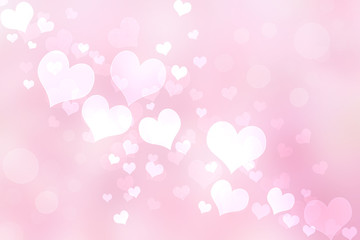 Abstract Heart Lights Background