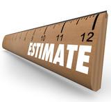 Estimate Word on Ruler Assessment Appraisal poster