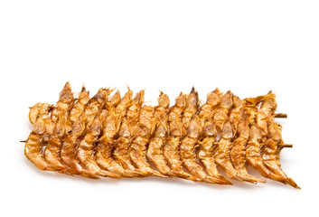 brochette of dried shrimp