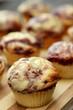 raspberry chocolate muffin