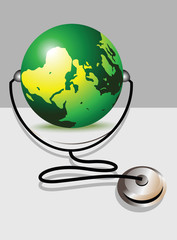Stethoscope and glob
