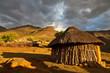 Mountain village  in beautiful light