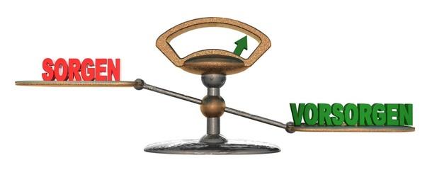 3D Waage - SORGEN - VORSORGEN