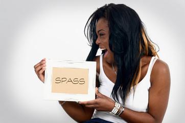 schwarzes Mädchen hat Spass
