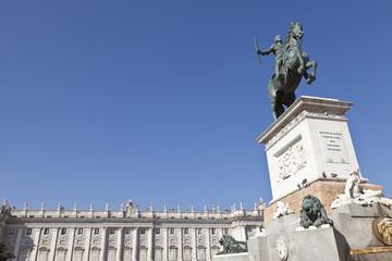 Monumento a Felipe IV en Madrid