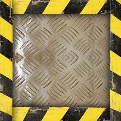 Metal Template whit Belt Warning