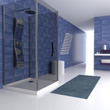 Fototapety blue bathroom