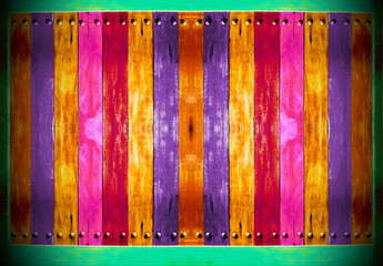 Old colorful Wooden board for background.