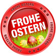 Button Frohe Ostern Ostereier rot