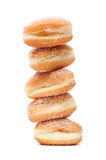 stack of donuts heart-shaped