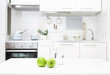 kitchen in white colors