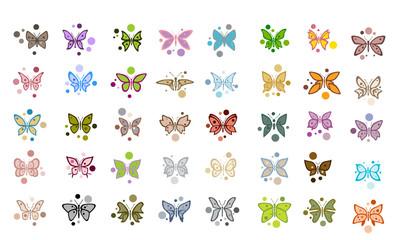 Butterfly funny polka dot baby