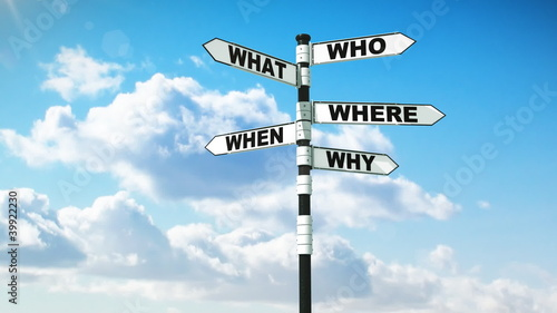 Signpost of Questions and Answers, HD, mask.