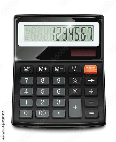 electronic calculator vector illustration isolated on white