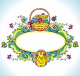 Holiday Easter Frame with white space for your text