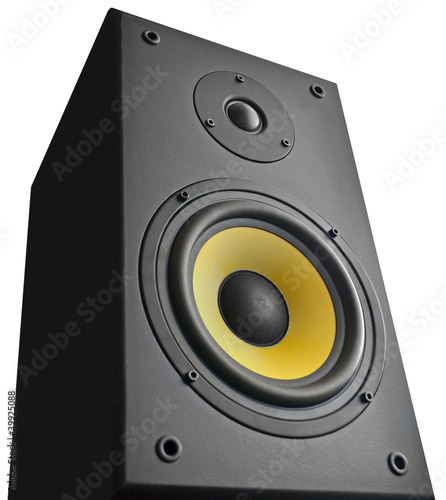 Speaker on white background